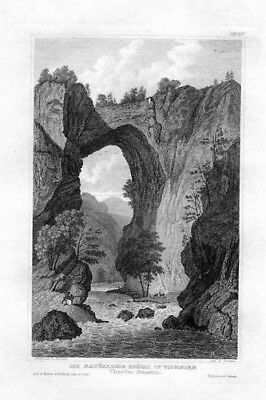 1850  Virginia United States Steel Engraving Stahlstich