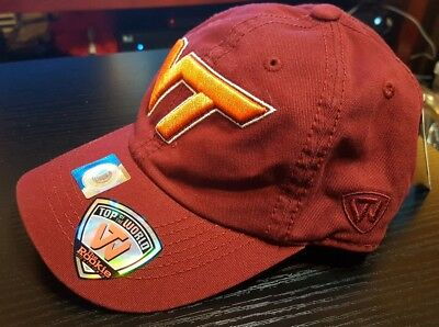 the latest 8997b c7c3e Top of the World Virginia Tech Hokies Maroon Solid Crew Adjustable Hat Youth