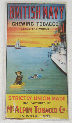 Early 1900's British Navy Chewing Tobacco Sign GREAT GRAPHICS!