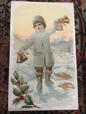 Christmas Large Antique  Advertising Card