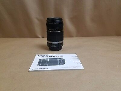 Canon EF-S 55-250mm 1:4-5.6 IS MACRO Lens for Canon SLR Cameras Both Caps Mint
