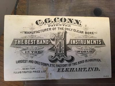 Antique Conn Advertisement Card  4 in 1!