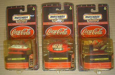 Coca Cola Enduring Characters ~ 3 Matchbox Collectibles