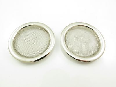 Screened Soundhole Covers Chrome Plated - Large (2 Pack)