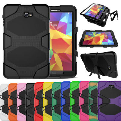 "Hybrid Shockproof Rugged Stand Military Case For Samsung Galaxy Tab A 10.1"" T580"