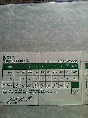 Rare - 1998 Tiger Woods  Actual Used Tournament Scorecard Signed .psa/dna.