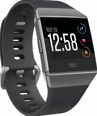BRAND NEW FitBit Ionic SmartWatch Fitness Tracker Charcoal Gray *FAST SHIPPING*