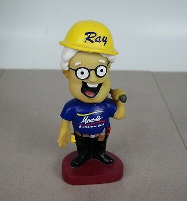 "Menards Hard Hat Contractor Club Ray Menard Bobble Head 7"" Tall Bobble Dobbles"
