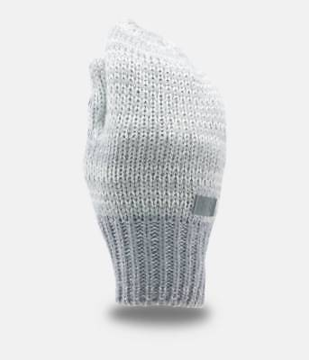 UNDER ARMOUR ~ ColdGear Shimmer Knit Youth Girl's Mittens ~ One Size ~ Ivory
