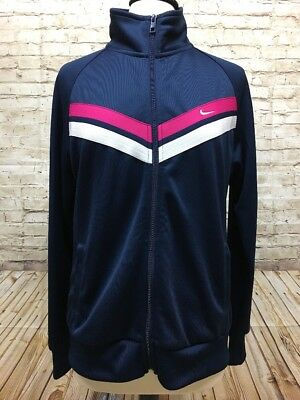 Nike Women's Jacket Track Athletic Full Zip The Athletic Dept. Blue Pink Size XL