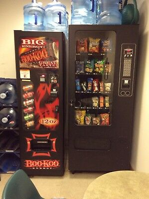 Two wittern vending machines soda and snack
