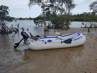 Inflatable boat and mercury 3.3HP motor - great condition - great price!
