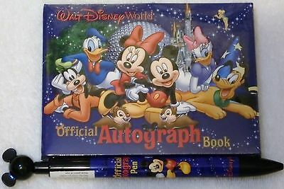 Disney World Resort Official Autograph Book & Matching Pen NEW FREE SHIPPING