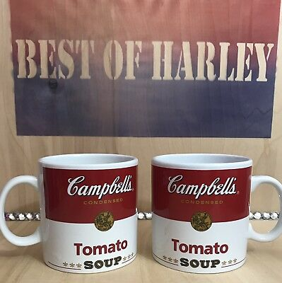 New Campbell Condensed Tomato Soup Mugs Mug Coffee large SET of 2, Collectable