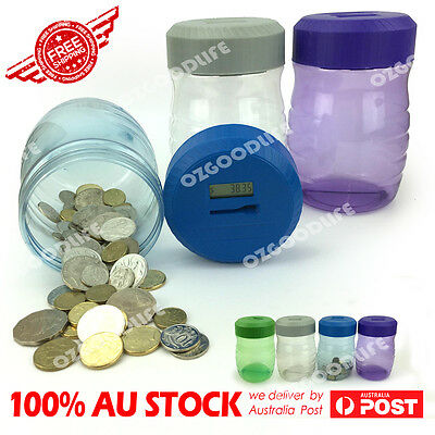 Designed for AU Digital Coin Counting Piggy Bank Money Jar pot SAVE MONEY