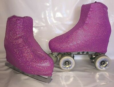 Cerise Holo Boot Covers for RollerSkates and Ice Skates  S,M,L