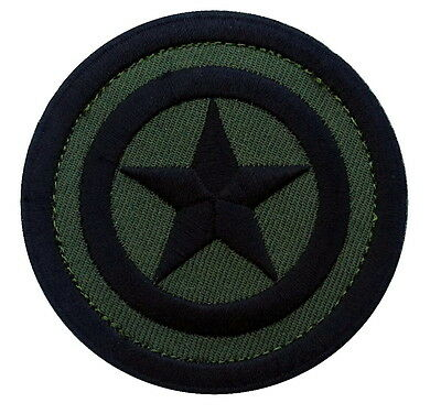 Hook patch Captain America Camo green round shield Morale tactical