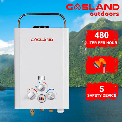 GASLAND Portable LPG Gas Hot Water Heater Instant Outdoor Shower Stand RV 4WD