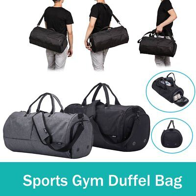 Gym Duffle Bag Travel Weekender Carry On Luggage with Shoe Compartment Handbag