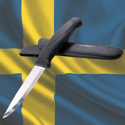 MORAKNIV COMPANION BLACK STAINLESS Mora Knives of Sweden Survival Outdoor Knife