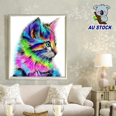 5D Diy Diamond Painting Cute Cat Animal Picture for Child Cross Stitch Embroider