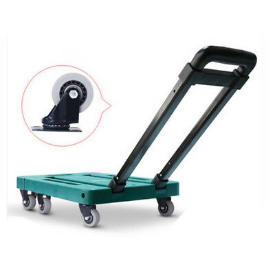 D55 Rugged Aluminium Luggage Trolley Hand Truck Folding Foldable Shopping Cart