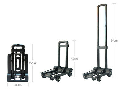 D37 Rugged Aluminium Luggage Trolley Hand Truck Folding Foldable Shopping Cart