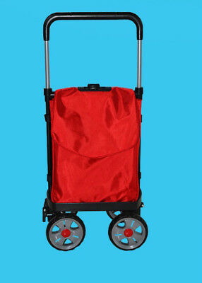 D127 Rugged Aluminium Luggage Trolley Hand Truck Folding Foldable Shopping Cart