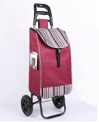 D156 Rugged Aluminium Luggage Trolley Hand Truck Folding Foldable Shopping Cart