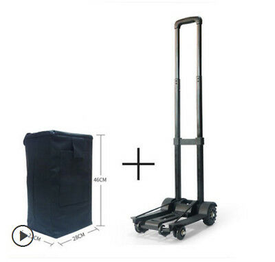 D38 Rugged Aluminium Luggage Trolley Hand Truck Folding Foldable Shopping Cart
