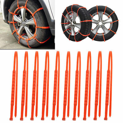 Car/Truck Tire Anti-skid Chains Thickened Tendon Snow Mud Wheel Tyre Cable Ties