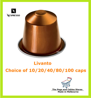 10 20 40 80 100 Capsules Nespresso Livanto Coffee Pods - Intensity 6