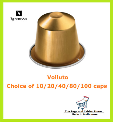 10 20 40 80 100 Capsules Nespresso Volluto Coffee Pods - Intensity 4