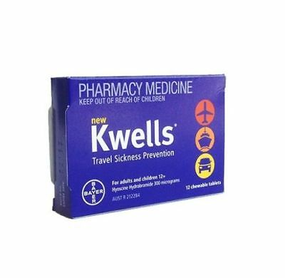 Kwells Travel Sick Tabs 12s x 3 Pack * New and ORIGINAL