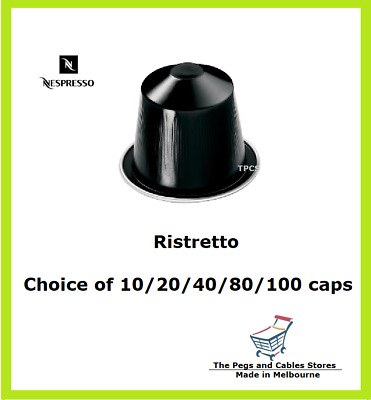 10 20 40 80 100 Capsules Nespresso Ristretto Coffee Pods - Intensity 10