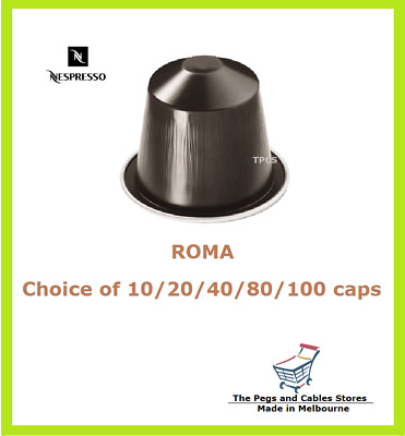 10 20 40 80 100 Capsules Nespresso Roma Coffee Pods - Intensity 8