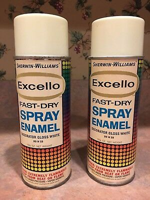 Vintage Excello spray paint by Sherwin Williams White 2 cans