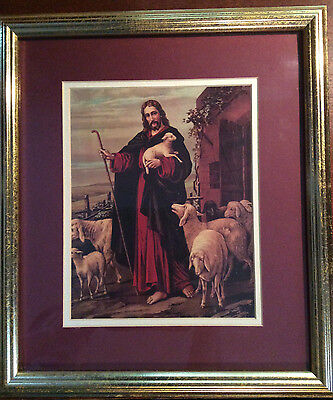 Home and Garden Party framed picture of Jesus as the Good Shepard
