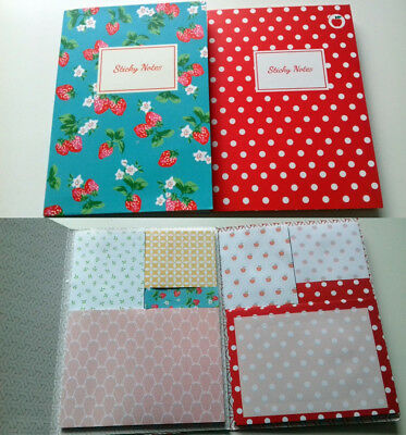 """2x Sticky Notes """"Bücher 3"""" (Muster Filofax Memo Sticker Bookmark Flags Notepad)"""