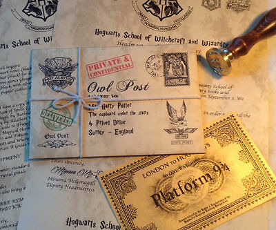 Personalized Hogwarts Acceptance Letter with FREE Hogwarts Express Ticket
