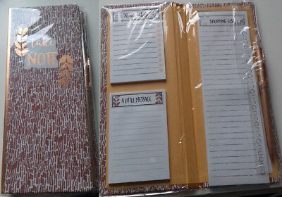 """1x Sticky Notes """"Kupfer"""" (Buch Filofax Memo Sticker Bookmark Flags Notepad)"""