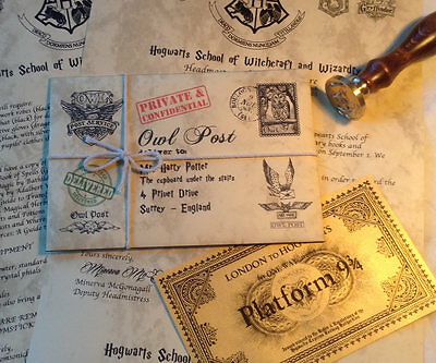 Personalized Hogwarts Acceptance Letter & FREE Hogwarts Express and Bus Ticket