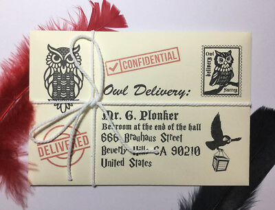 Hogwarts Acceptance Letter - Lost Owl Personalized FREE Gold Ticket