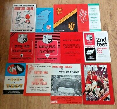 British Lions Tour to New Zealand 1977 Rugby Union Programmes