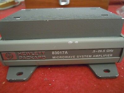 1pc Used Good  HP 83017A  .5-26.5GHz Microwave System Amplifier