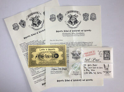 Hogwarts Acceptance Letter Personalized / with FREE Gold Hogwarts Train Ticket
