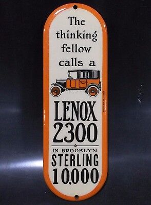 Antique Celluloid Door Push Sign Yellow Taxi Brooklyn Lenox Advertising Auto