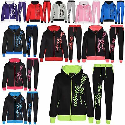 Kids Tracksuit Boys Girls Designer The Power Design Top Bottom Jogging Suit 7-13