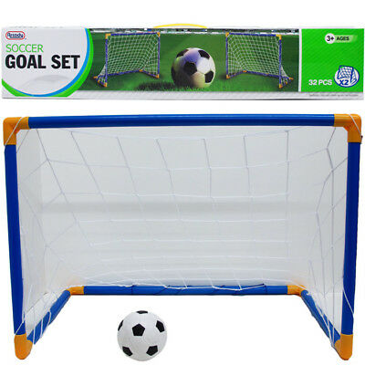Soccer Goal Set Outdoor Activity Play Kids Toy Adjustable New Age 3+