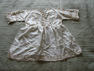 Vintage Embroidered Silk Child's Dress Hand Made
